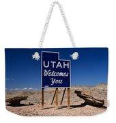 Utah Welcomes You State Sign Weekender Tote Bag