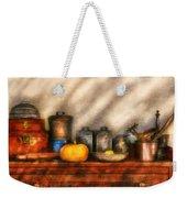 Utensils - Kitchen Still Life Weekender Tote Bag by Mike Savad
