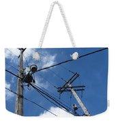 Utility Poles And Clouds 2 Weekender Tote Bag