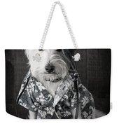 Vacation Dog With Camera And Hawaiian Shirt Weekender Tote Bag