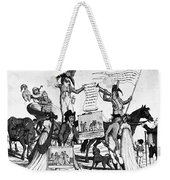 Vaccination Cartoon, C1800 Weekender Tote Bag