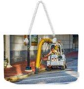 Vacuuming The Sidewalk Weekender Tote Bag
