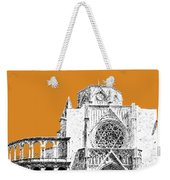 Valencia Skyline Valencia Cathedral - Dark Orange Weekender Tote Bag