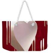 Valentine Paper Heart Weekender Tote Bag