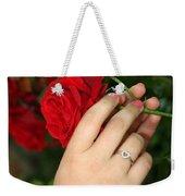 Valentine Rose Weekender Tote Bag