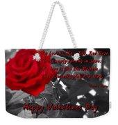 Valentine Roses Weekender Tote Bag
