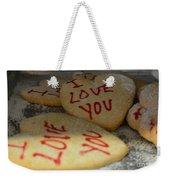 Valentine Wishes And Cookies Weekender Tote Bag