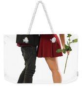 Valentines Couple Weekender Tote Bag by Carlos Caetano