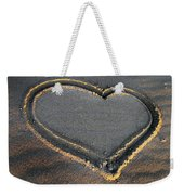 Valentine's Day - Sand Heart Weekender Tote Bag