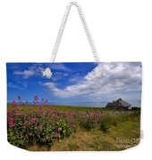 Valerian By A Stone Wall On The Northumberland Coast Weekender Tote Bag