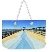 Valero Beach Fishing Pier Weekender Tote Bag