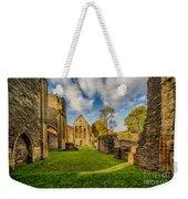 Valle Crucis Abbey Ruins Weekender Tote Bag by Adrian Evans