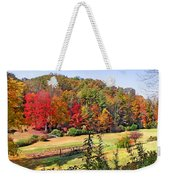 Valley Farm In The Fall Weekender Tote Bag