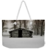 Valley Forge Cabin In Winter Weekender Tote Bag