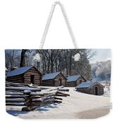 Valley Forge Cabins After A Snow Weekender Tote Bag