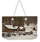 Valley Forge Cabins In Snow 2 Weekender Tote Bag