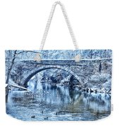 Valley Green Ducks In Winter Weekender Tote Bag