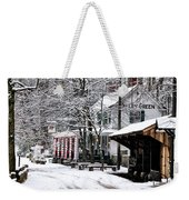 Valley Green In Winter Along Forbidden Drive Weekender Tote Bag