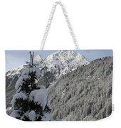 Valley In The Snow Weekender Tote Bag