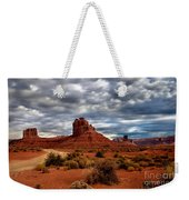 Valley Of The Gods Stormy Clouds Weekender Tote Bag