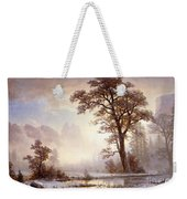 Valley Of The Yosemite Snow Fall Weekender Tote Bag