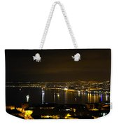 Valparaiso Harbor At Night Weekender Tote Bag