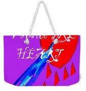 Vampire Heart Weekender Tote Bag