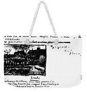 Van Gogh Letter Weekender Tote Bag