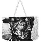 Man With Top Hat Weekender Tote Bag