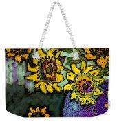 Van Gogh Sunflowers Cover Weekender Tote Bag