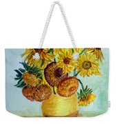 van Gogh Sunflowers in watercolor Weekender Tote Bag