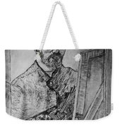Van Goghs Self Portrait Painting Placed In His Room In Arles France Weekender Tote Bag