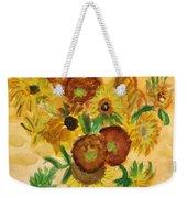 van Gogh's Sunflowers in Watercolor Weekender Tote Bag