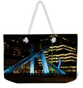 Vancouver - 2010 Olympic Cauldron Lit At Night Weekender Tote Bag
