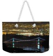 Vancouver Nightlights Weekender Tote Bag