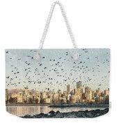 Vancouver Skyline With Crows Weekender Tote Bag