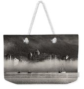 Vancouver Skyline With Fog Over English Bay Weekender Tote Bag