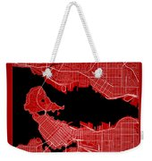 Vancouver Street Map - Vancouver Canada Road Map Art On Color Weekender Tote Bag