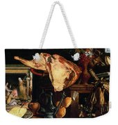 Vanitas Still Life Weekender Tote Bag by Pieter Aertsen