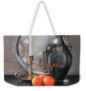 Vanitas Still Life By Candlelight With Clementines 1 Weekender Tote Bag