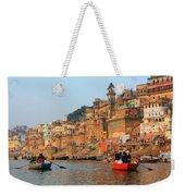 Varanasi From The Ganges River Weekender Tote Bag