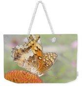 Variegated Fritillary On Cone Flower Weekender Tote Bag