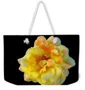 Variegated Yellow Rose Weekender Tote Bag