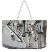 Various Forks On A Plate Weekender Tote Bag