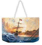 Vasco Da Gama's Ships Rounding The Cape Weekender Tote Bag