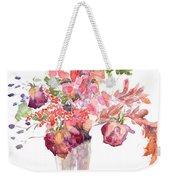 Vase Of Dried Flowers Weekender Tote Bag