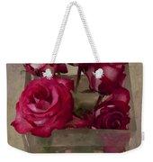 Vase Of Roses Weekender Tote Bag