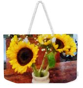 Vase Of Sunflowers Weekender Tote Bag