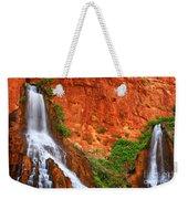 Vaseys Paradise Twin Falls Weekender Tote Bag by Inge Johnsson