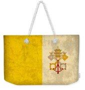 Vatican City Flag Vintage Distressed Finish Weekender Tote Bag